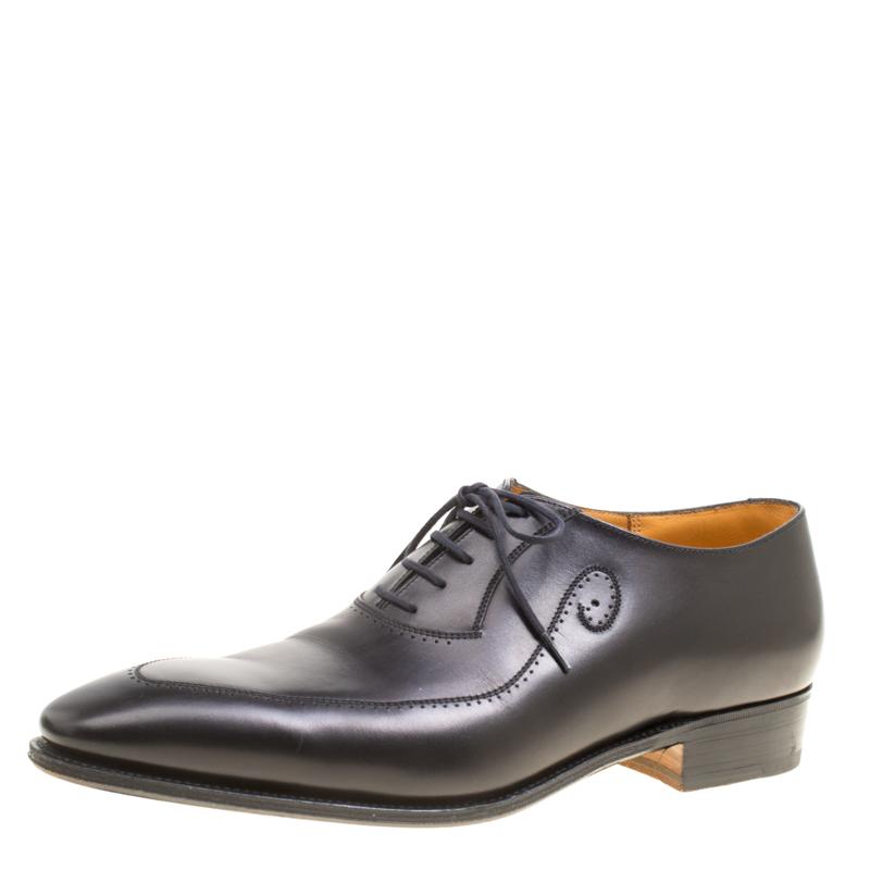 J.M.Weston Black Leather Oxfords Size 42