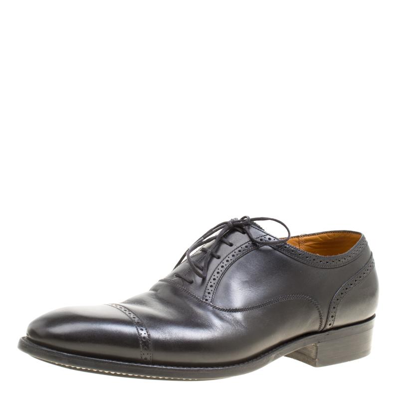 J.M.Weston Black Leather Oxfords Size 43