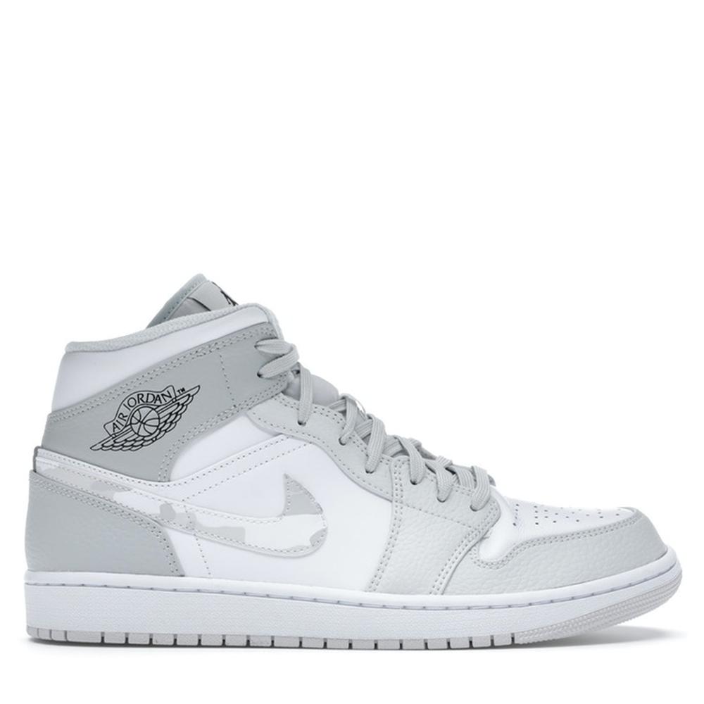 Nike Jordan 1 Mid Grey Camo Sneakers US Size 9 EU Size 42.5