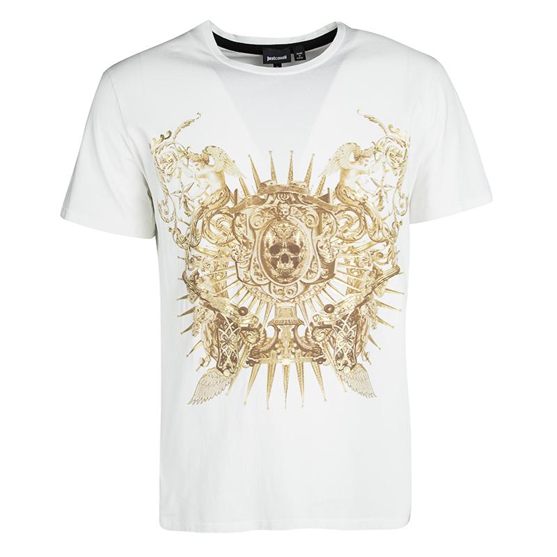 022763b95575b ... Just Cavalli White Metallic Skull Print Short Sleeve T-Shirt L.  nextprev. prevnext