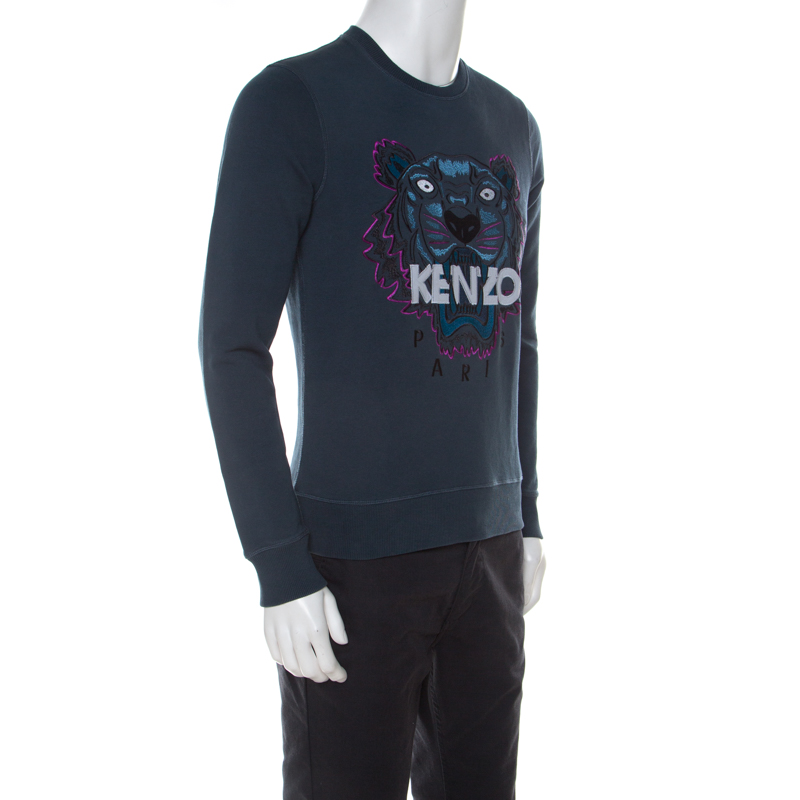 KENZO MENS CASUAL COTTON DIAMOND STYLE SWEATSHIRTS