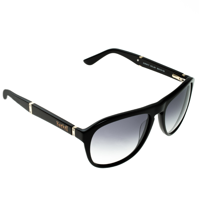 Korloff Black/Grey Gradient KOR2017 Wayfarer Sunglasses