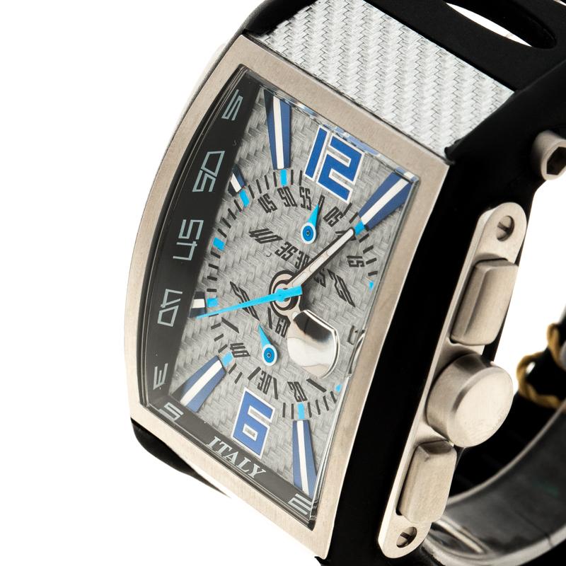 Locman Gris Titane et en Acier Inoxydable Tremilla N. L7520 des Hommes montre-Bracelet 41MM