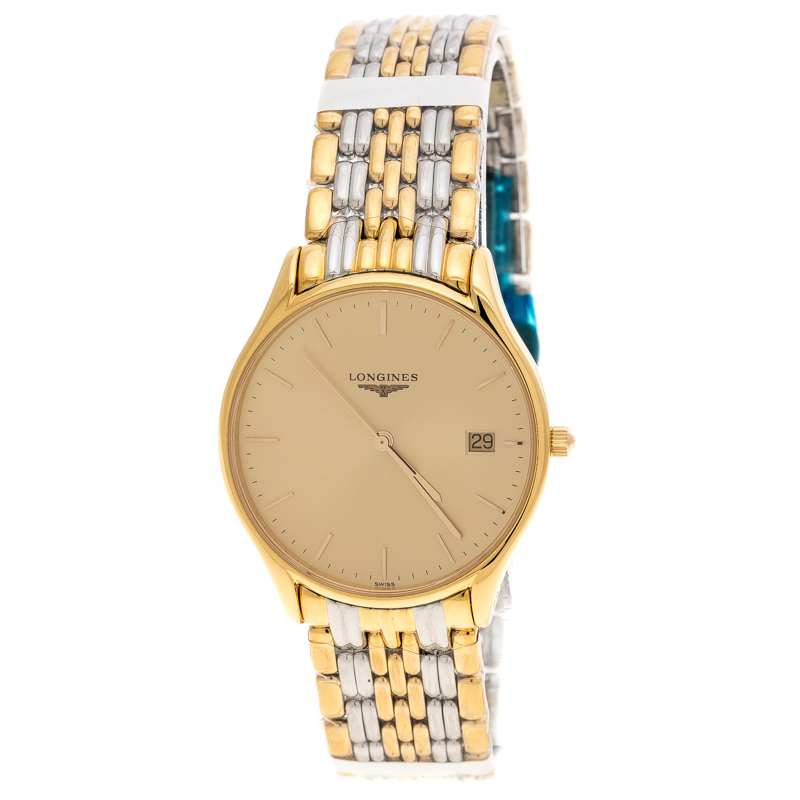 Longines Gold Two-tone Stainless Steel Lyre L4.759.2 Men's Wristwatch 35 mm