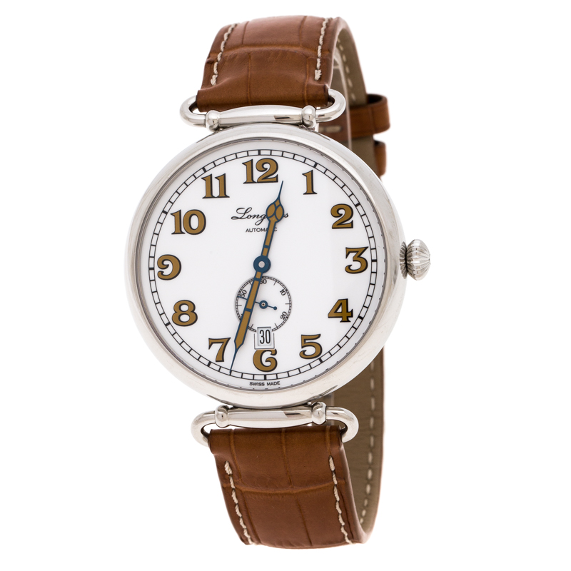Longines White Stainless Steel Heritage 1918 L28094232 Men's Wristwatch 41 MM