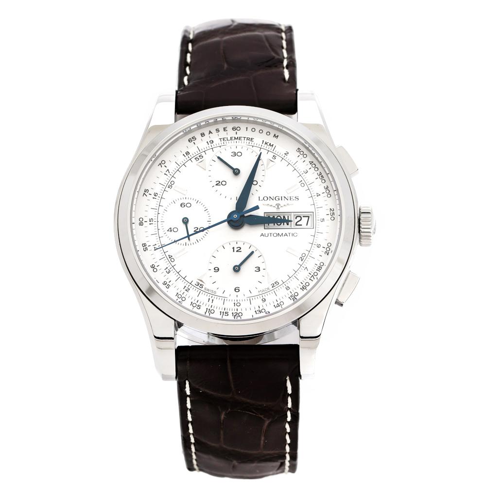 Longines Silver Stainless Steel Heritage L2.747.4 Men's Wristwatch 40 mm