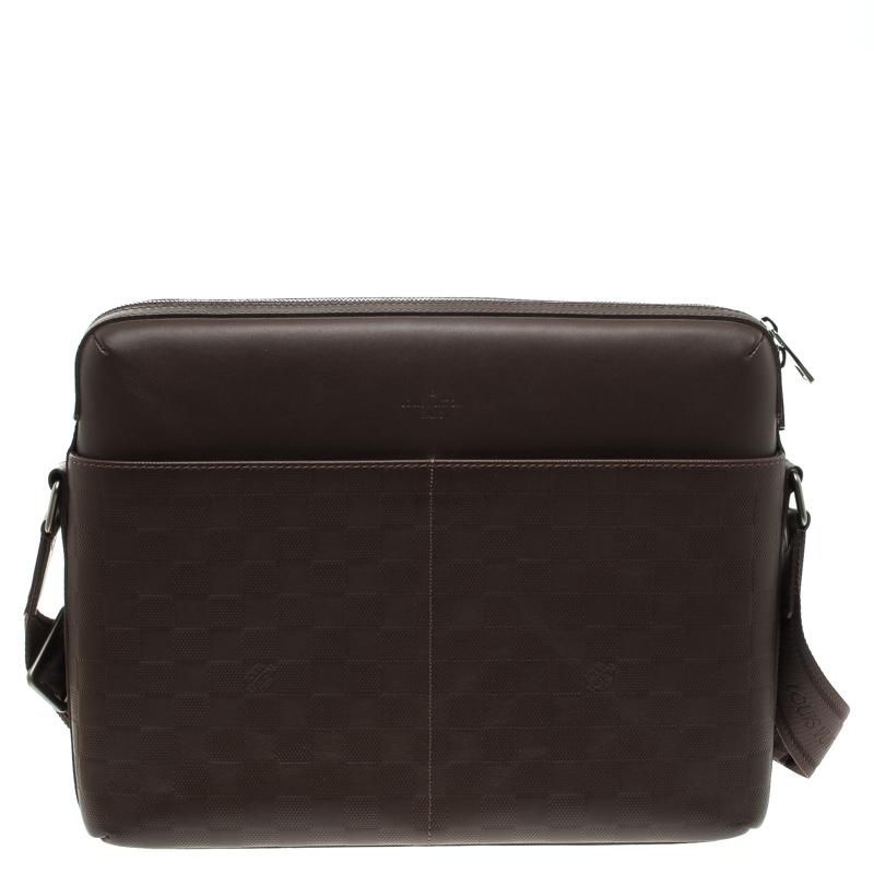 5fb342a33f6c ... Louis Vuitton Brown Damier Infini Calypso Messenger MM Bag. nextprev.  prevnext