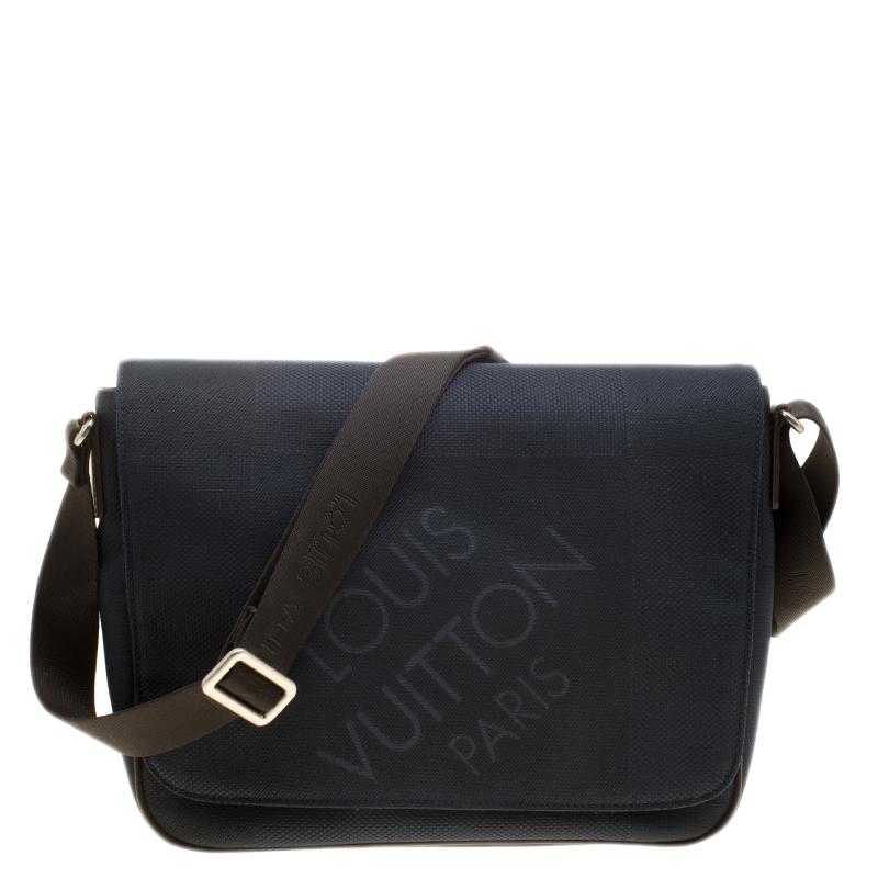 Louis Vuitton Blue Dark Brown Damier Canvas Geant Messenger Bag. nextprev  ... 9b28b73aea4c1