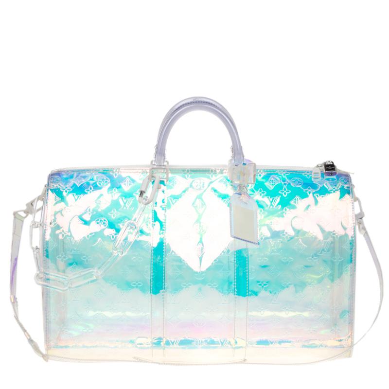 66b5b064808 Louis Vuitton Monogram Prism Keepall Bandouliere 50 Bag