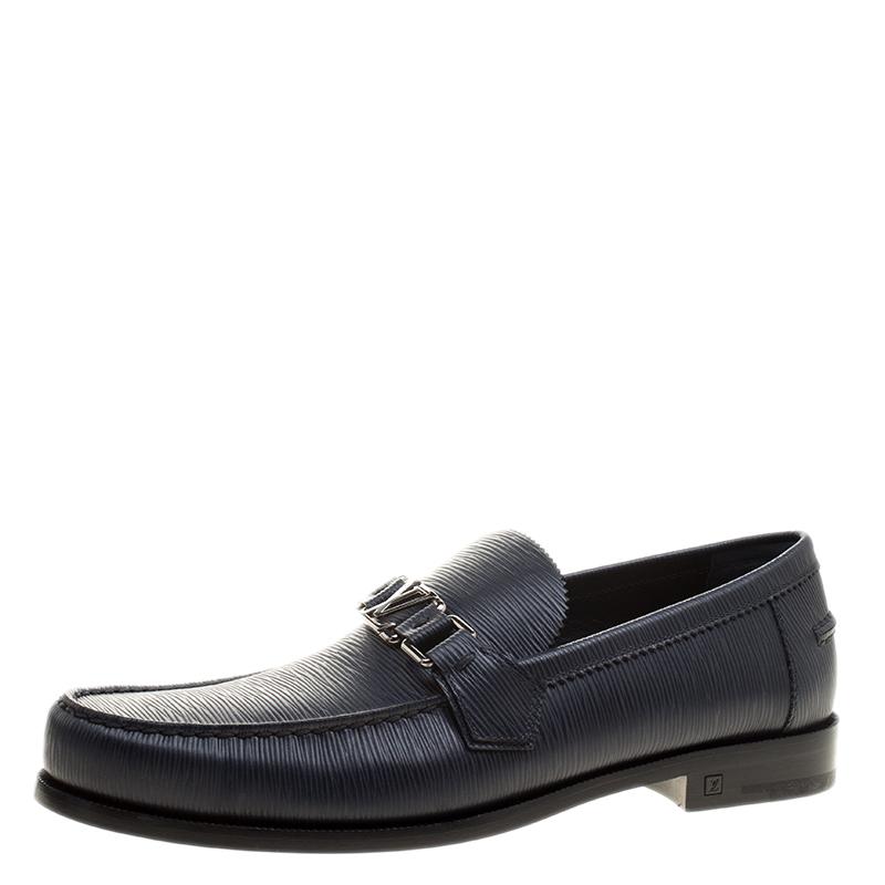 1a5384f8f4e ... Louis Vuitton Navy Blue Epi Leather Major Loafers Size 42. nextprev.  prevnext