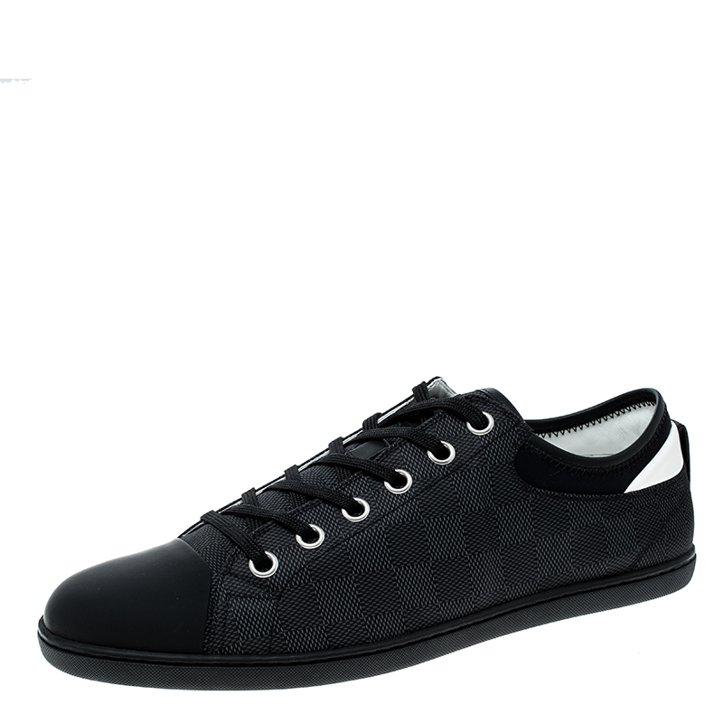 61292586a08a1 Buy Louis Vuitton Damier Graphite Nylon and Leather Baseball Low Top ...