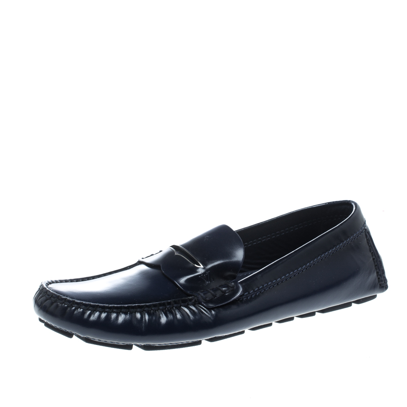 55b397e32bc9 ... Louis Vuitton Blue Leather Shade Penny Loafers Size 41. nextprev.  prevnext