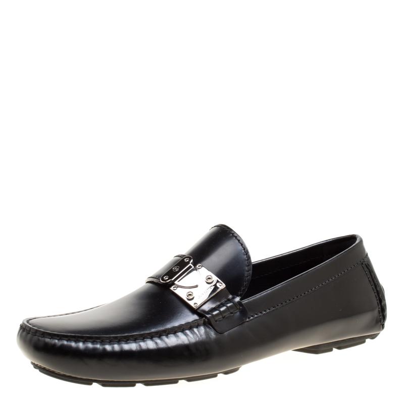 945b410e9d8d ... Louis Vuitton Black Leather Racetrack Loafers Size 43.5. nextprev.  prevnext