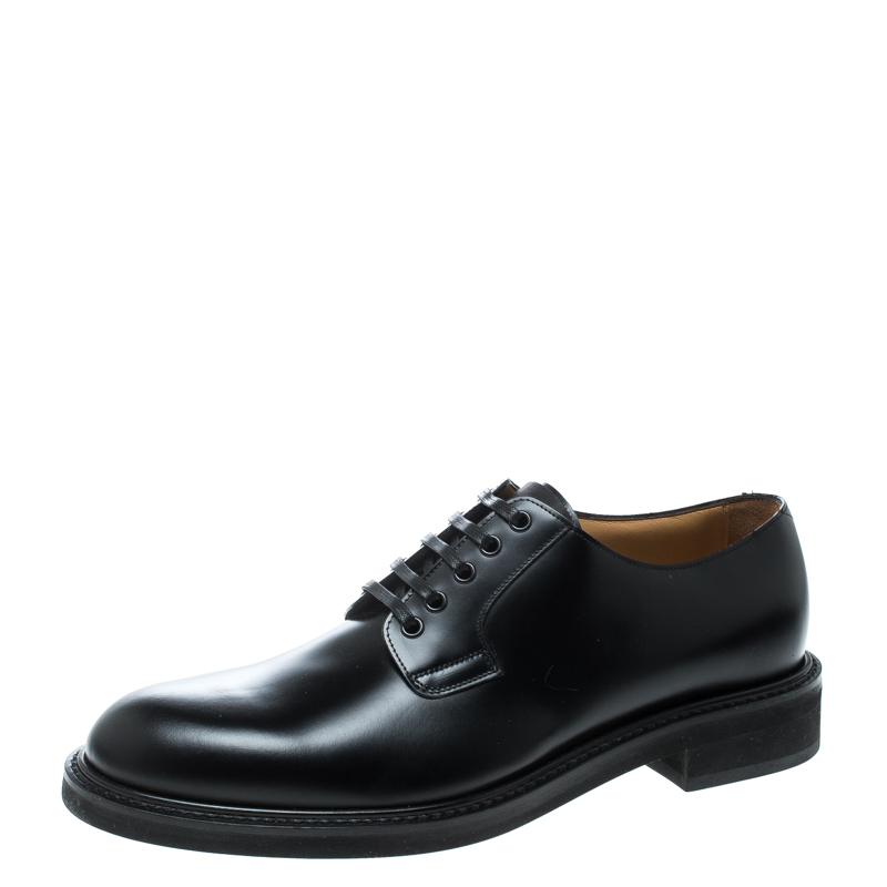 Louis Vuitton Black Leather Lace Up Oxfords Size 41