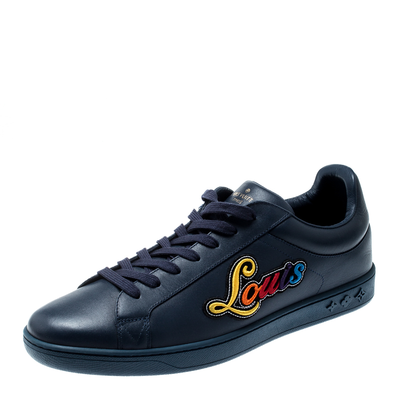 6ba55fd8ee6 Louis Vuitton Blue Leather Luxembourg Low Top Sneakers Size 42