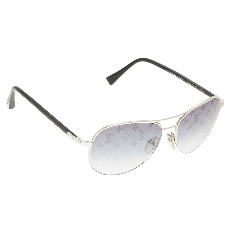 b8ee7ef5e5d5 Buy Louis Vuitton Silver Conspiration Pilote Aviators 1183 at best ...