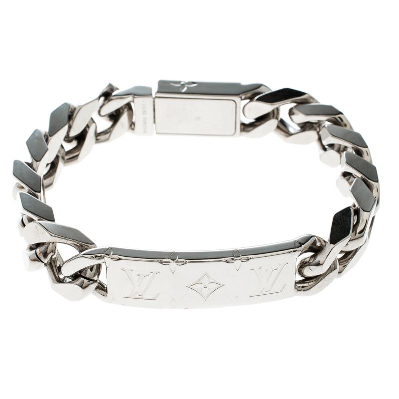4ea1563d Louis Vuitton Monogram Palladium Finish Chain Link Bracelet
