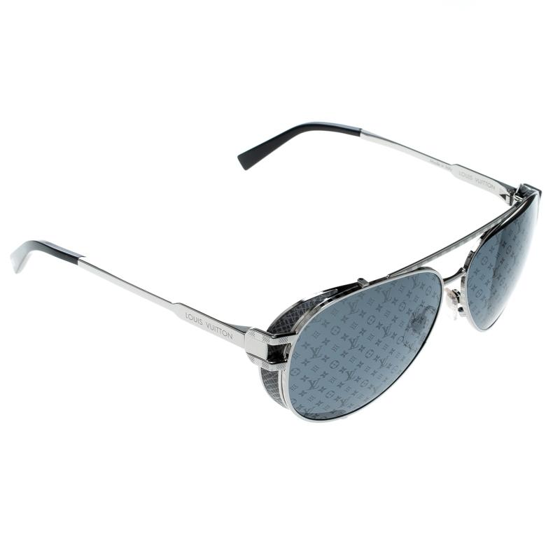 b97ea6d870bb ... Louis Vuitton Silver  Grey Z0982W Skyline Glacier Aviator Sunglasses.  nextprev. prevnext