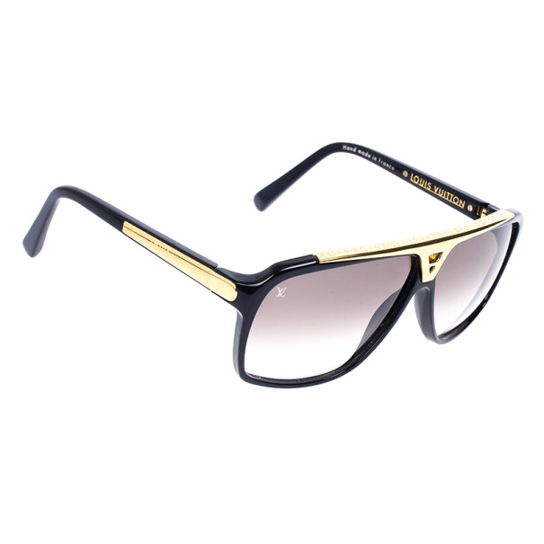 3482a364b4b9 Buy Louis Vuitton Black and Gold Evidence Men Sunglasses 17966 at ...