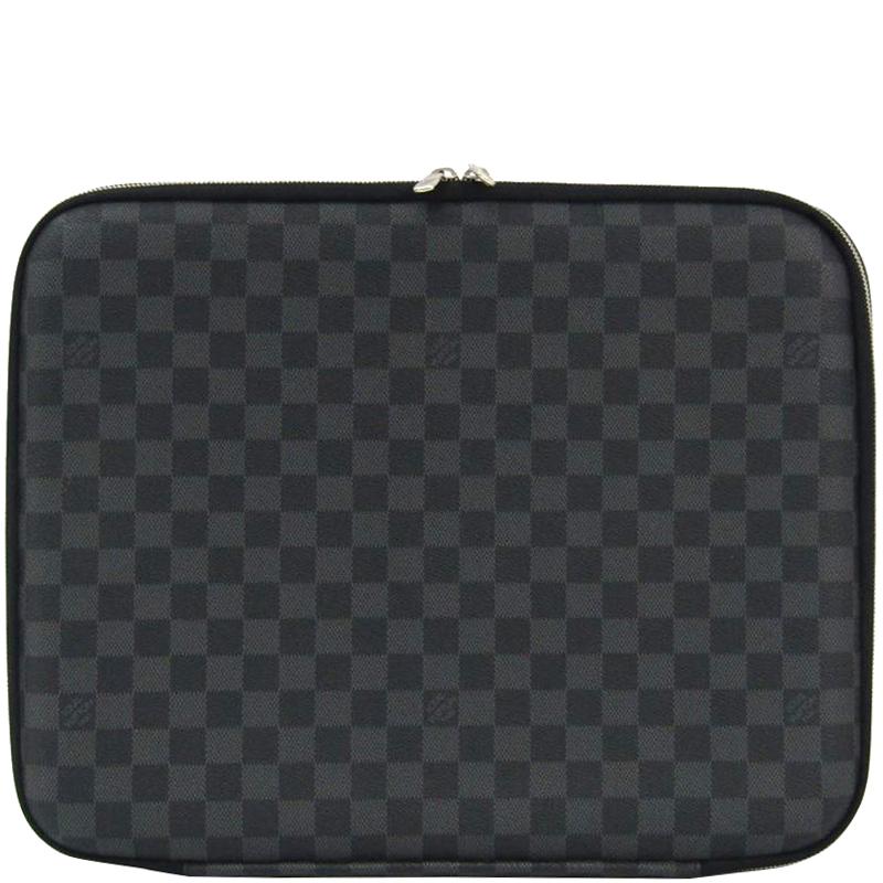 finest selection ed156 6cd3c Louis Vuitton Damier Graphite Canvas Sleeve Laptop Case
