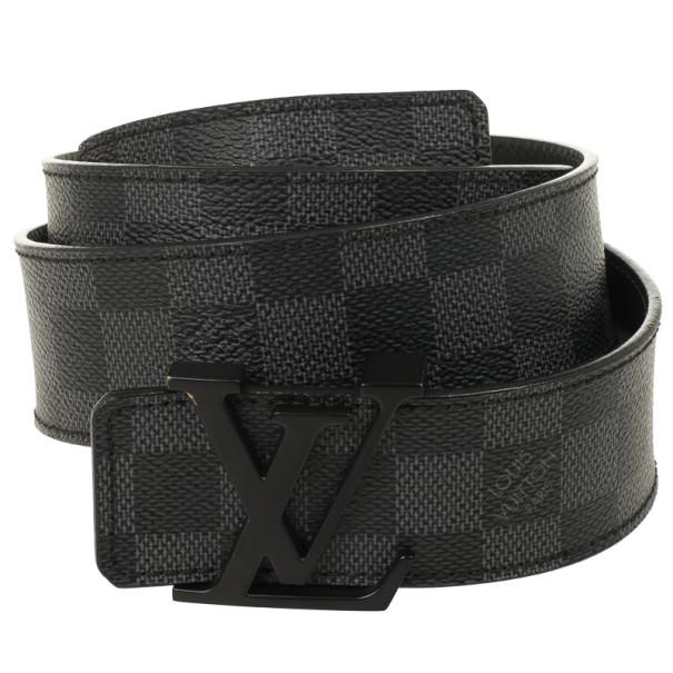 055e94a2fb84 Buy Louis Vuitton Damier Graphite Initials Belt 95 CM 26607 at best ...
