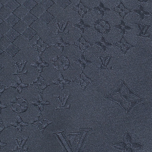 Louis Vuitton Grey Monogram Mix Silk Jacquard Tie