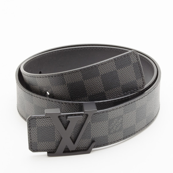 Buy Louis Vuitton Initials Damier Graphite Belt 34469 at best price ... 824e82f67c4c3