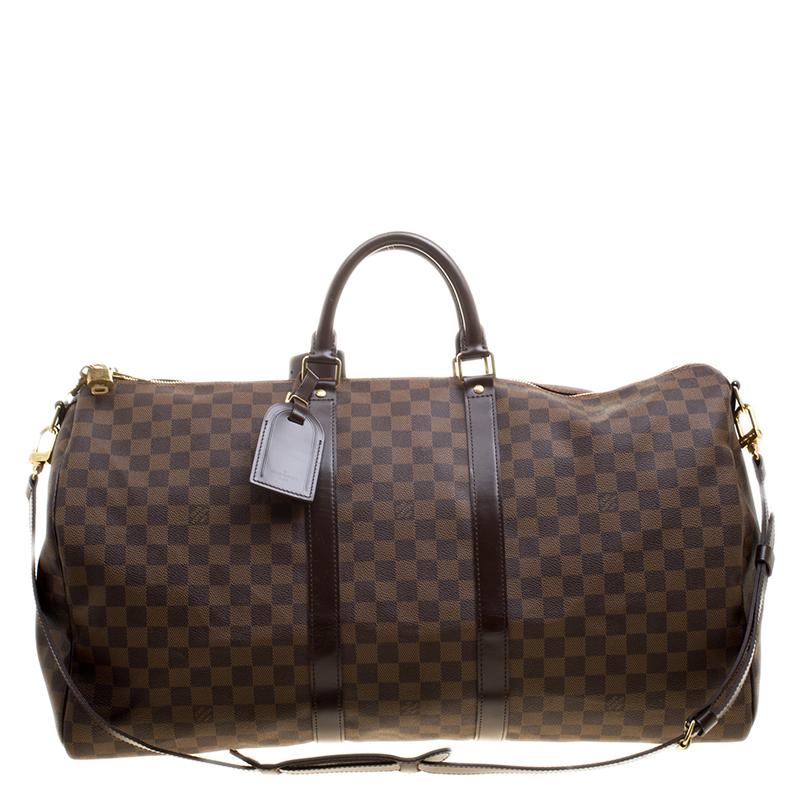 56d39ef24387 ... Louis Vuitton Damier Ebene Canvas Keepall Bandouliere 55. nextprev.  prevnext