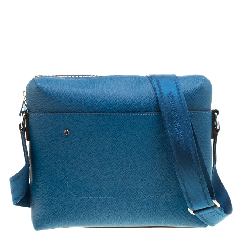 1f5085b290c1 Buy Louis Vuitton Blue Taiga Leather Grigori PM Messenger Bag 142228 ...