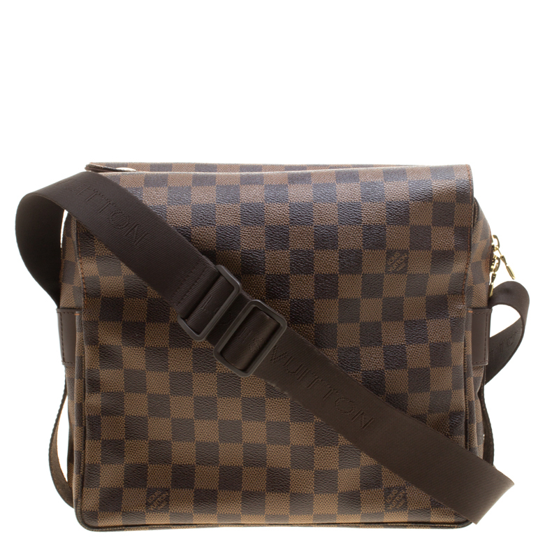 f09104d83778 Buy Louis Vuitton Damier Ebene Canvas Naviglio Messenger Bag 143264 ...
