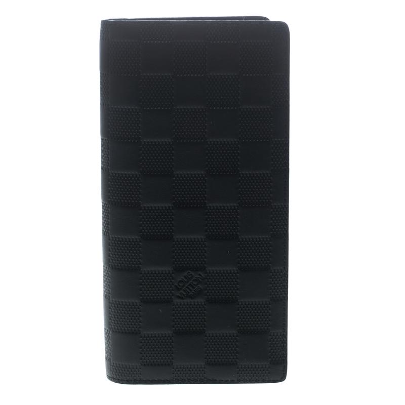 ff5a70be1aa7 ... louis vuitton black damier infini leather brazza wallet 149890 ...