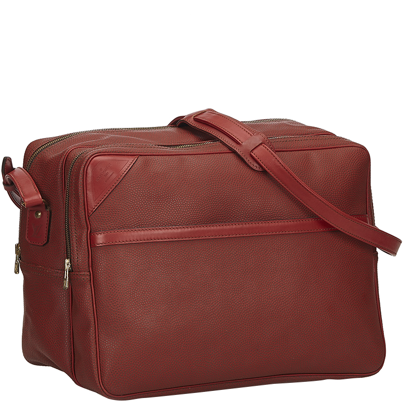 Купить со скидкой Louis Vuitton Red PVC Cup Challenge Line 2 Messenger Bag