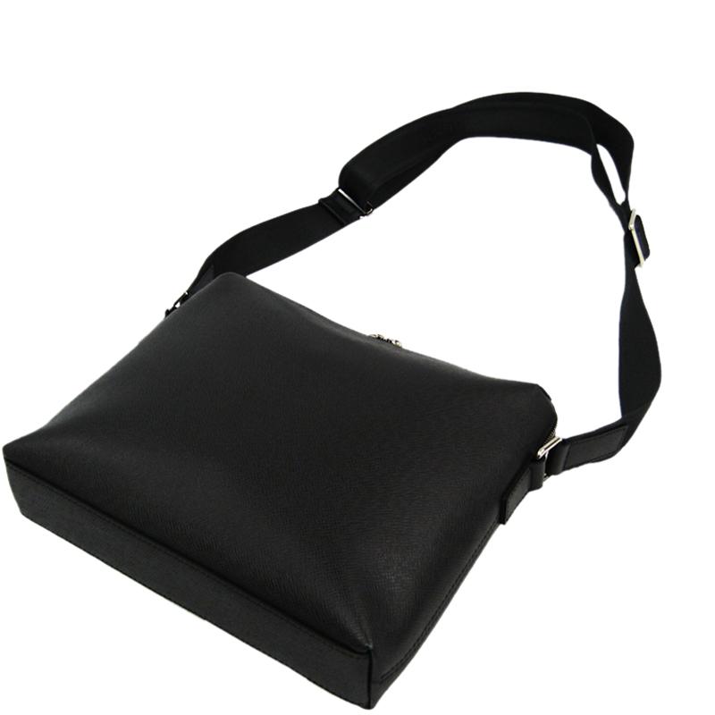 Louis Vuitton Schiefer Taiga Leather Grigori Messenger Bag