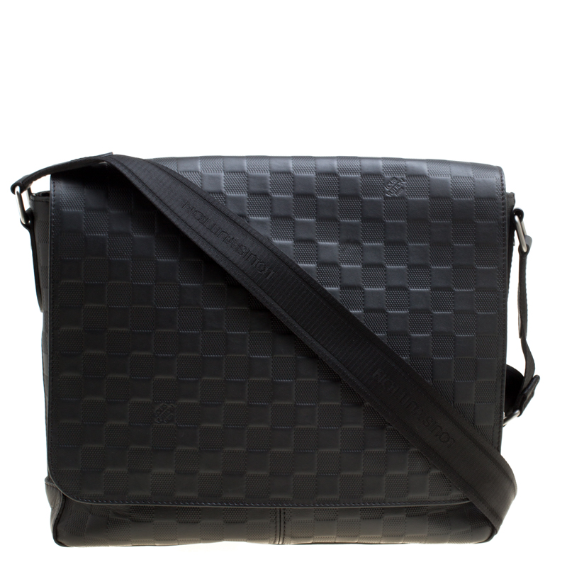 2b9389661 ... Louis Vuitton Onyx Damier Infini Leather District MM Bag. nextprev.  prevnext