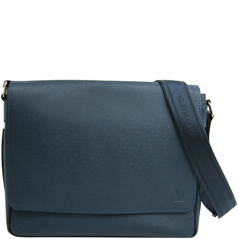66fc619b595 Louis Vuitton Ocean Taiga Leather Roman PM Messenger Bag