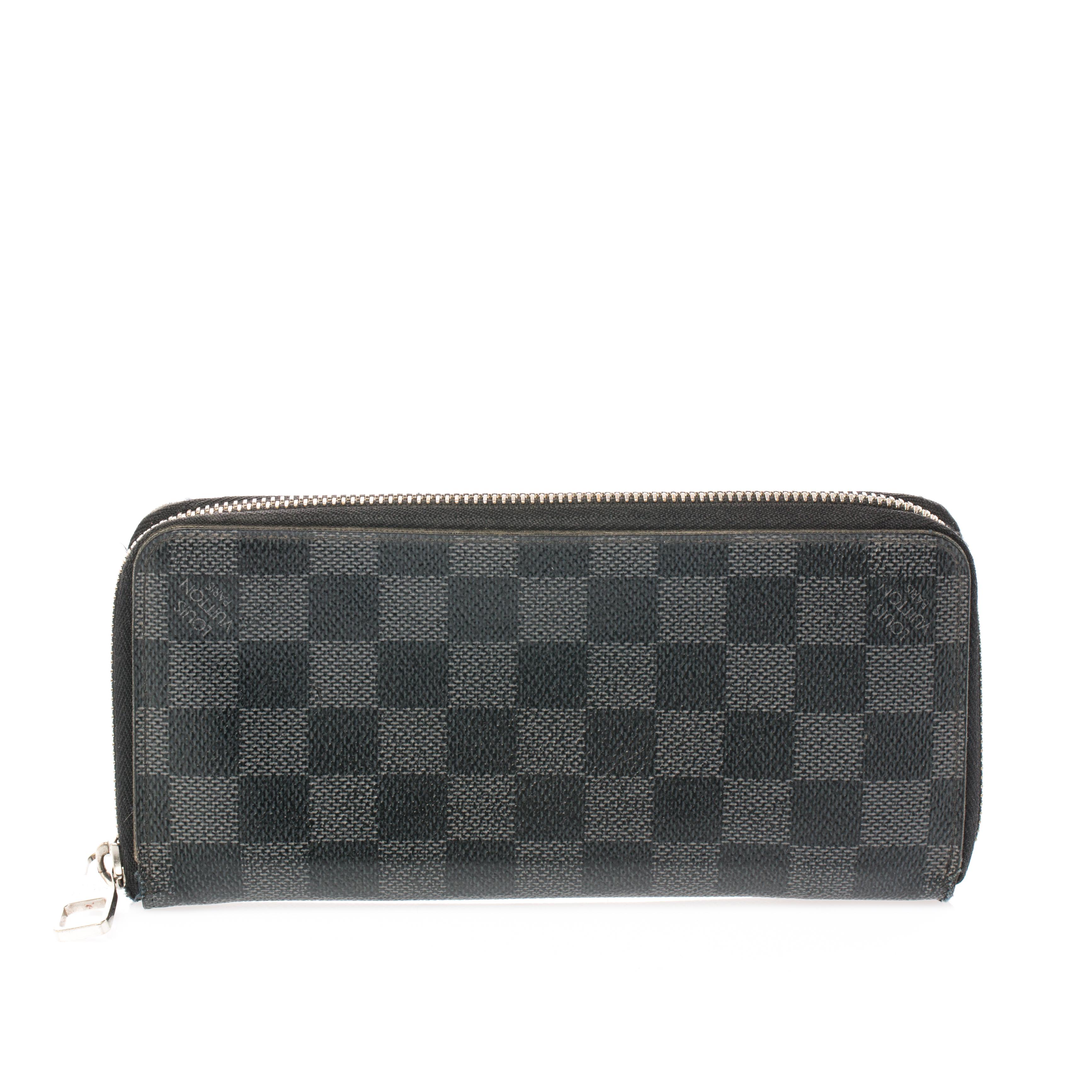 4a0a949eedd Louis Vuitton Damier Graphite Canvas Vertical Zippy Wallet
