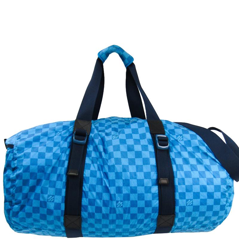 Blue Damier Nylon Aventure Practical