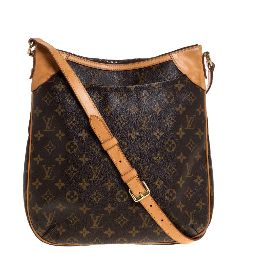 Pre-owned Louis Vuitton Monogram Canvas Odeon Mm Bag In Brown