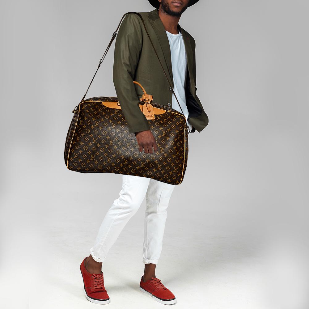 Louis Vuitton Monogram Canvas And Leather Alize 1 Poches Soft Suitcase