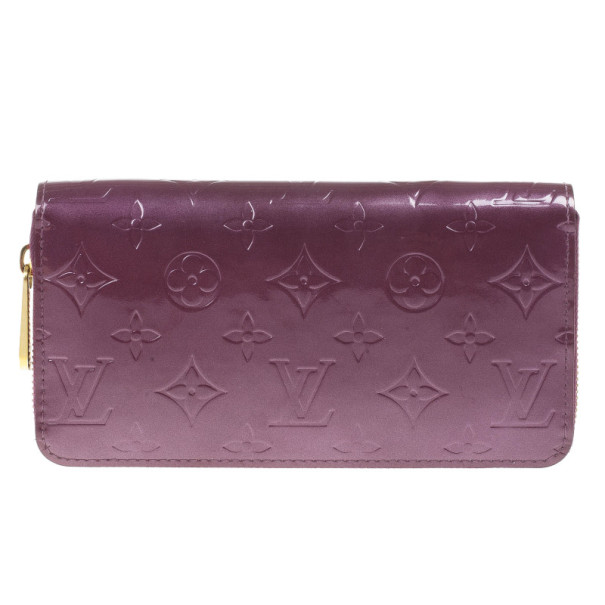 e58dfe2f1cd9 Buy Louis Vuitton Purple Monogram Vernis Zippy Wallet 15065 at best price