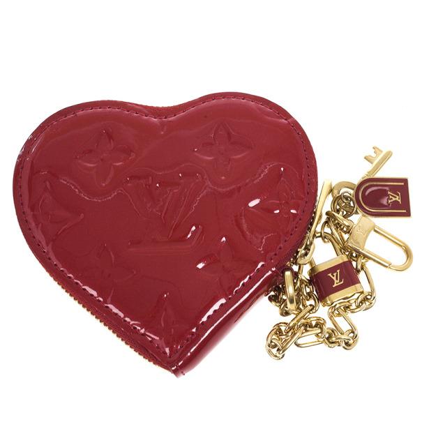 01c83ae5f50b Louis Vuitton Pomme D Amour Monogram Vernis Heart Coin Purse - Best ...