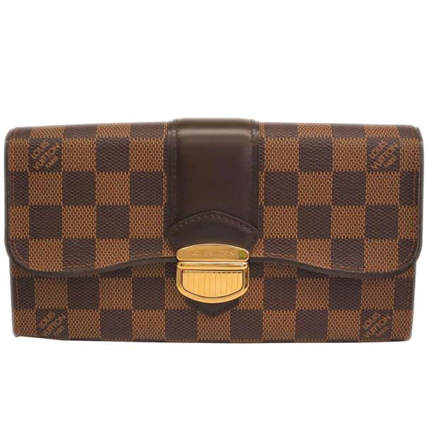 32798689cc67a ... Louis Vuitton Damier Ebene Portefeuille Sistina Bifold Long Wallet.  nextprev. prevnext