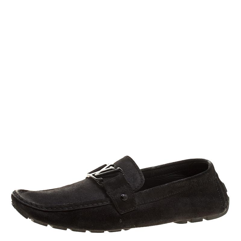 1b7c990b5d4c ... Louis Vuitton Black Suede Monte Carlo Loafers Size 43. nextprev.  prevnext