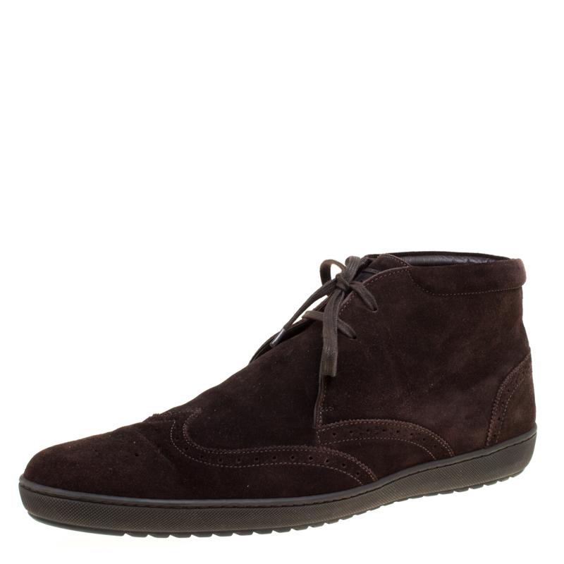 f7de78bc41ab ... Louis Vuitton Brown Suede Sneaker Boots Size 43.5. nextprev. prevnext