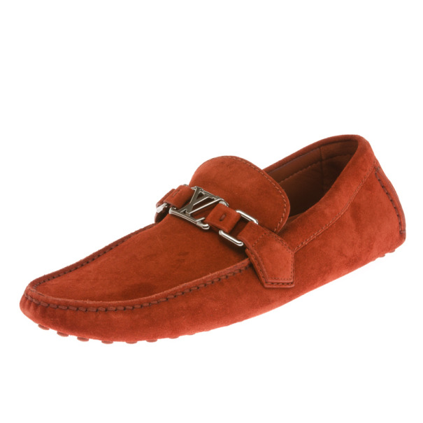 00c8d7265d48 ... Louis Vuitton Brick Red Suede Hockenheim Loafers Size 41.5. nextprev.  prevnext