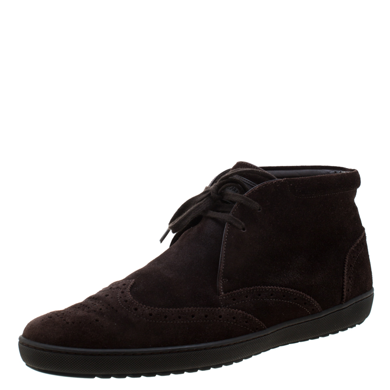 Louis Vuitton Brown Suede Sneaker Boots Size 40