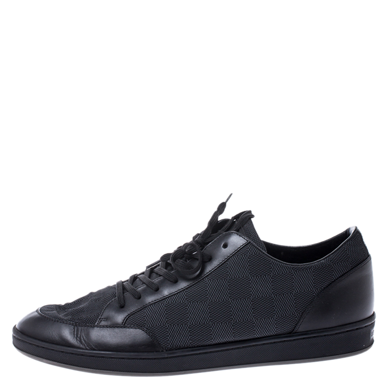 Louis Vuitton Damier Graphite Nylon and Leather Offshore Sneakers Size, Black