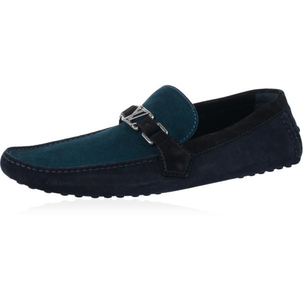 860907d3da19 ... Louis Vuitton Tri Color Suede Hockenheim Loafers Size 44. nextprev.  prevnext