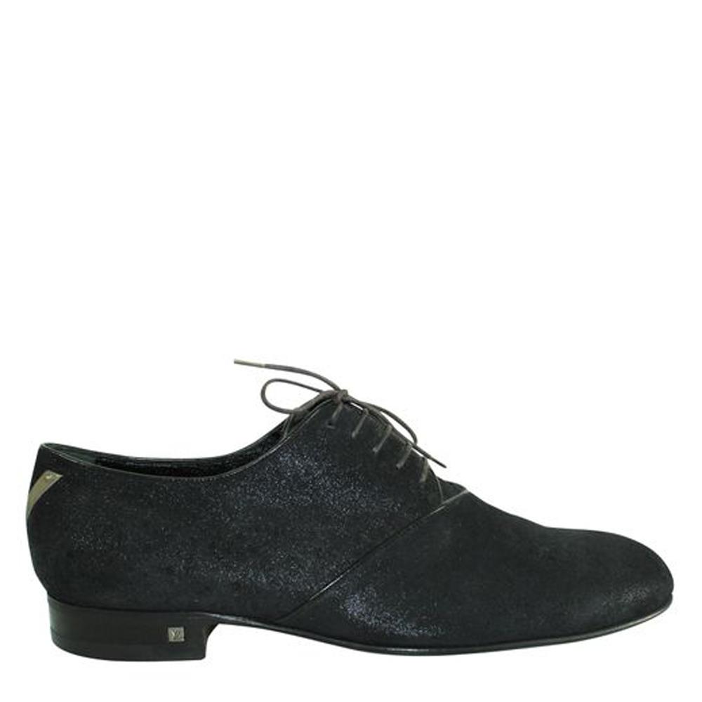 Pre-owned Louis Vuitton Black Suede Desert Boots