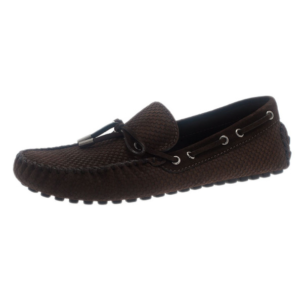 e4ab20a73e0c ... Louis Vuitton Brown Petit Damier Suede Navajo Loafers Size 42.  nextprev. prevnext